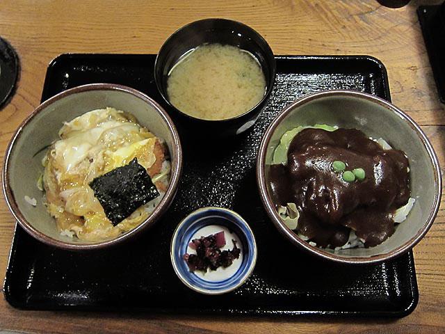 カツ丼とドミカツ丼の食べ比べセット