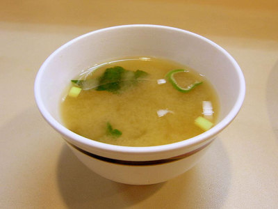 付属の味噌汁