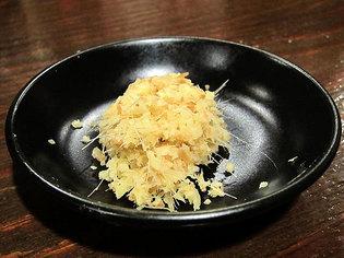タンメンの別皿でもらったショウガ
