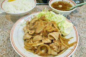 渋谷ラーメン王後楽本舗の生姜焼き定食