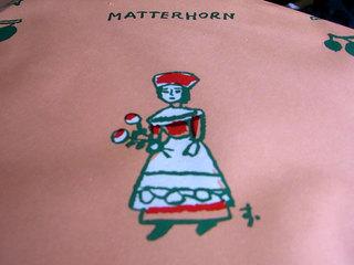 包装紙の女の子のキャラクター