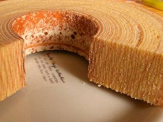 バームクーヘンの年輪の層が沢山