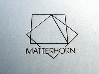 箱に付いてたマッターホーンのロゴ