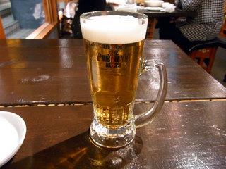 生ビールです