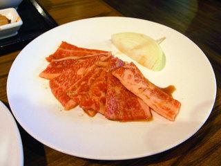 カルビ定食のお肉
