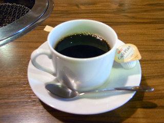 食後のコーヒーです