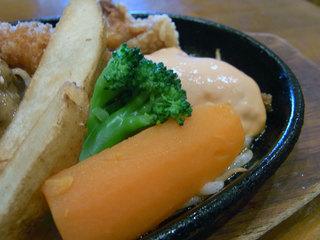 コンビプレートの野菜