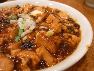 マイルドな辛さの麻婆豆腐