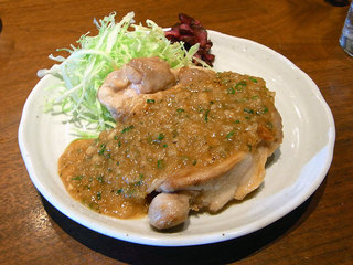 鶏もも肉ステーキのお肉