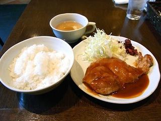 豚のロースBBQソース定食