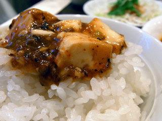 ライスに麻婆豆腐をのせてみました