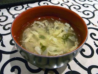 定食の玉子スープ