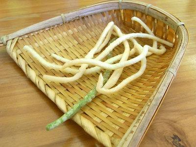 食前のうどんの天ぷら