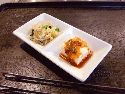 小鉢は豆腐とモヤシでした。