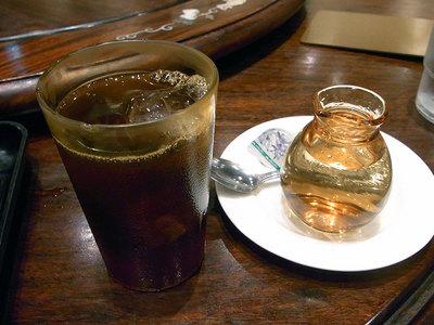 食後のアイスコーヒー。