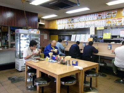 市場食堂秋葉屋の店内の様子。