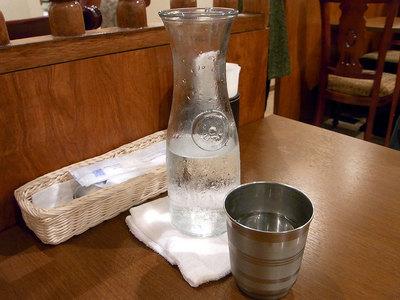 ボトルで供される水