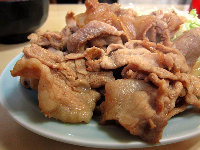 生姜の風味は控えめだがしっかり濃い味です