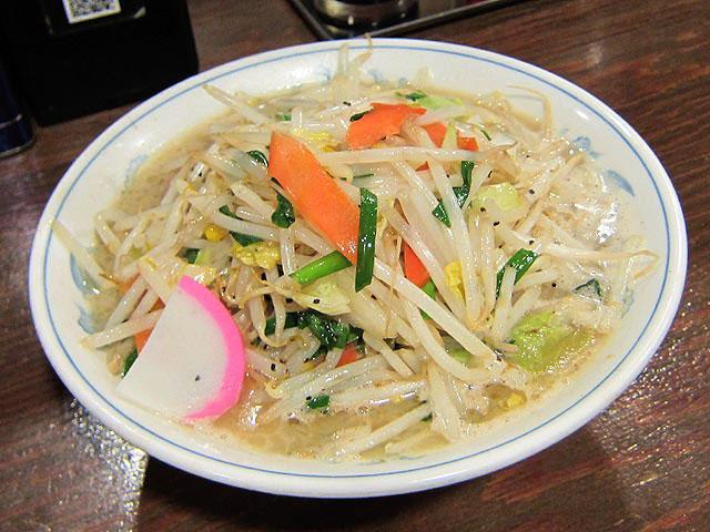タンメンは野菜がタップリです