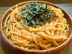 八丁堀マイヨールのウニとタラコのスパゲティ