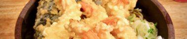 テンコ盛り天ぷらで麺が見えない!盛り合わせ蕎麦550円が絶妙!とんがらし(水道橋)